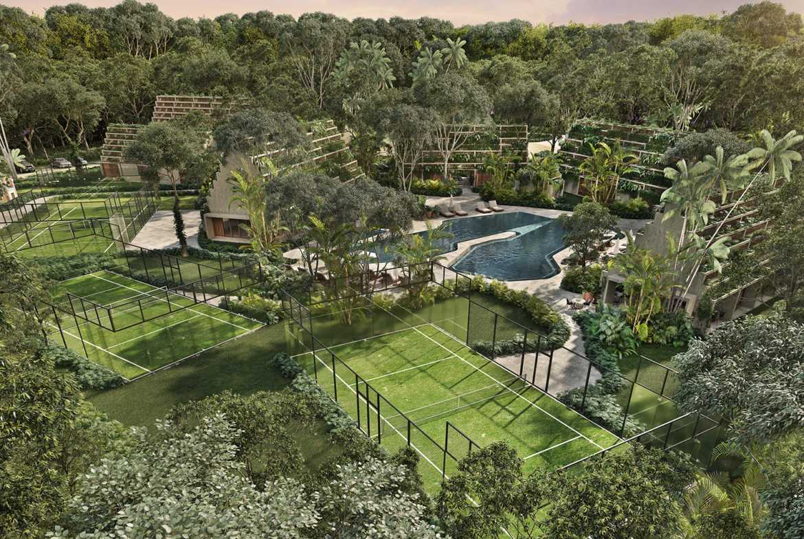 Paddle courts at Club House