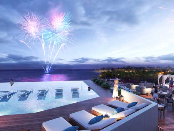 beachfront rooftop