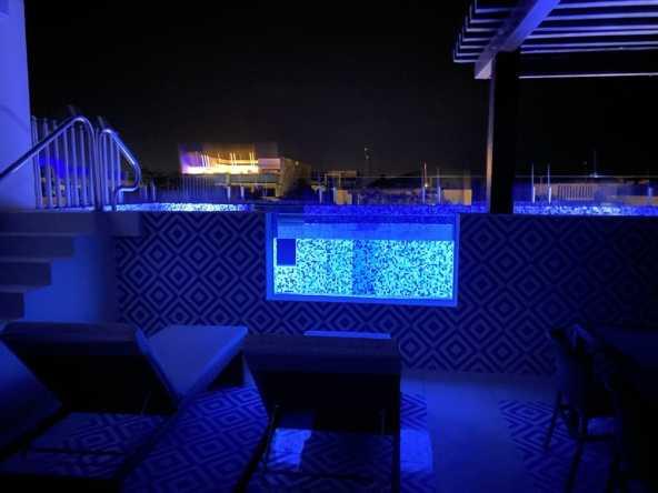 pool at night (blue)